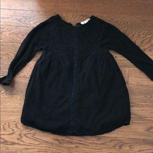 Zara girls size 6 black long sleeve dress